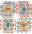 seamless textile background vector image vector image