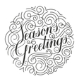 Seasons Greetings Christmas card Original vector image vector image