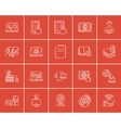 Self-education sketch icon set vector image