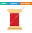 sewing reel with thread icon vector image