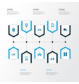 shipment colorful icons set collection of caravan vector image vector image