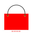 shopping bag icon different color vector image