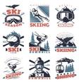 Ski Season Emblem Set vector image vector image