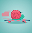 Snail on a board vector image
