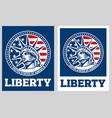 statue liberty nyc usa flag symbol vector image vector image