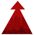 the growth modern cities urbanization red vector image vector image