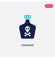 two color poisonous icon from health and medical vector image vector image