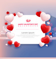 valentines day sale with balloons heart pattern vector image vector image