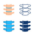 vertebra icon set in flat and line style vector image vector image