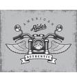 Vintage motorcycle print vector image vector image