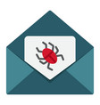 virus in email flat icon spam and security vector image