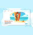 we love summer horizontal banner with sexy girls vector image vector image