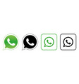whatsapp set social media logos vector image vector image