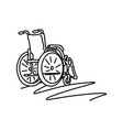 wheelchair with copyspace sketch vector image vector image