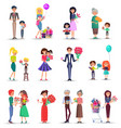 women s day concept colourful collection on white vector image vector image