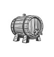 wooden oak keg with wine beer isolated container vector image