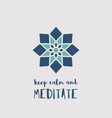 yoga studio poster vector image vector image