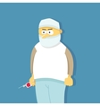 Profession icon doctor in flat style vector image