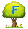 A tree with a letter F vector image vector image
