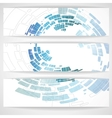 Abstract Blue Banner vector image vector image