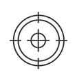 aim target focus goal linear icon