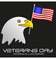 american veterans day celebration with head of vector image