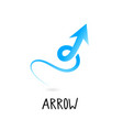arrow icon in trendy flat style isolated on grey vector image vector image