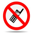 Ban telephone vector image vector image