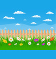 beautiful rural landscape view vector image