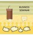 Business Seminar Concept vector image vector image