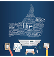 Business working for social media vector image vector image