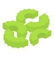 celery pasta icon isometric style vector image vector image