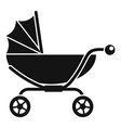classic baby pram icon simple style vector image