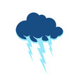 cloud and lightning symbol thunderstorm sign vector image vector image