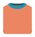colorful silhouette of man t-shirt folded vector image