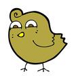 comic cartoon funny bird vector image vector image