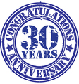 Congratulations 25 years anniversary grunge rubber vector image vector image