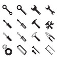construction tool icons collection vector image