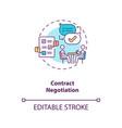 contract negotiation concept icon vector image vector image