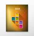 Cover Magazine colorful box blurred background vector image vector image