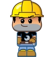 Cute Cartoon Construction Worker vector image