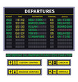 departure board airport board announcement vector image vector image
