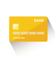 detailed golden credit card vector image
