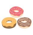 donut set isolated on a light background vector image