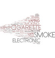 e-smoke word cloud concept vector image