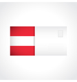 Envelope with Austrian flag card vector image