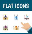 flat icon mosque set of mosque religion muslim vector image vector image