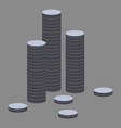 flat icon on theme arabic business stacks of coins vector image