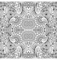 floral decorative doodle linear pattern vector image
