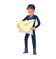 foreman master icon cartoon style vector image